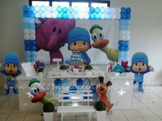 Decoração de Festa Infantil Pocoyo - Lançamento | Decoração Clean ABC