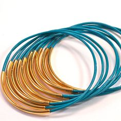 Leather Bangles Turquoise design inspiration on Fab.