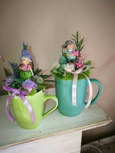 Beautiful Flower Arrangements, Mothers Day Crafts, Flower Farm, Miniature Fairy Gardens, Spring Crafts, Easter Crafts, Happy Easter, Diy And Crafts, Cactus