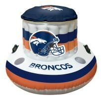 """BRONCOS  49"""" Round x 20"""" Inflatable Beach Cooler (NFL)"""