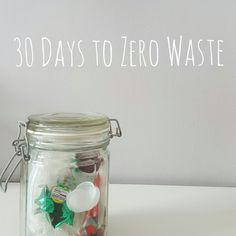 A simple and fun 30 day guide to getting you closer to a zero waste lifestyle! #zerowaste