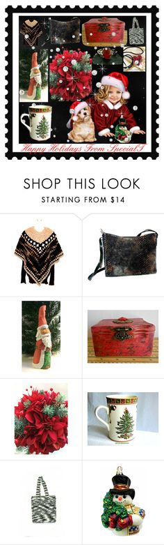 """""""Happy Holidays From SpecialT"""" by sylvia-cameojewels ❤ liked on Polyvore featuring Spode"""
