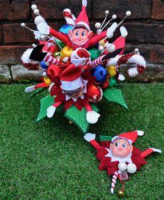 Christmas Elf, Christmas Ornaments, Corsage, Elf On The Shelf, Bouquet, Holiday Decor, Home Decor, Homemade Home Decor, Christmas Jewelry