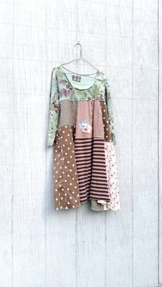 one of a kind upcycled dress by CreoleSha  grab your boots and jeans - sweet but funky little tunic for work or playing in the city - i chose a mix of
