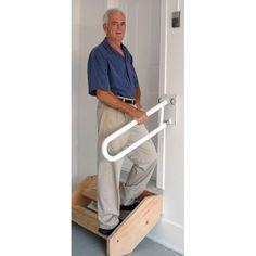 HandRail for garage steps Handicap Accessible Home, Handicap Ramps, Handicap Lifts, Handrails For Stairs Interior, Handrail Ideas, Outdoor Handrail, Garage Steps, Rv Garage, Garage Plans