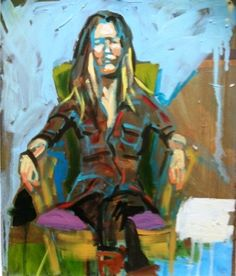 Green Chair, painting by artist Debbie Miller