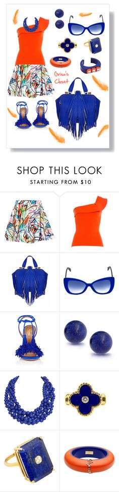"""""""Untitled #348"""" by grisucloset ❤ liked on Polyvore featuring Jeremy Scott, Roland Mouret, The Volon, Italia Independent, Aquazzura, Bling Jewelry, Humble Chic, Van Cleef & Arpels, Madyha Farooqui and Dsquared2"""