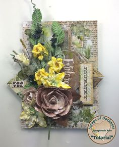 It's Cindy Brown with my second Tutorial for Scrap of Darkness. For this project I used the Scraps Of Darkness July Kit : The Wayfarer I . 2017 Design, Club Design, Mixed Media Scrapbooking, Mixed Media Canvas, Diy Scrapbook, Embellishments, Floral Wreath, Paper Crafts, Darkness