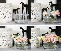 Build House Home: how to arrange flowers in a wide vase