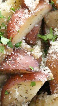 Crockpot Parmesan Potato Wedges