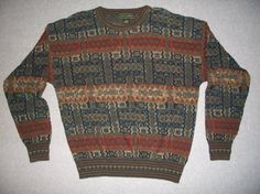 Vintage Hipster Earth Tones Sweater 80s 90s by vintagesweaters1, $24.99