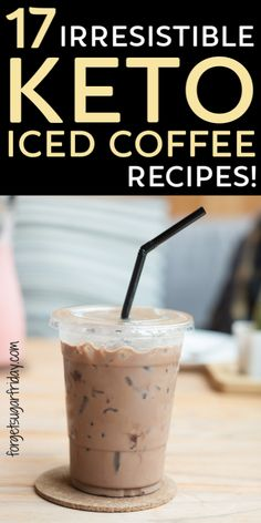 It's summertime and the perfect time for keto-friendly iced coffee recipes! These iced keto coffee recipes will pep you up and cool you down at the same time. Plus they're high fat coffee recipes that will keep you satisfied all morning long! Keto Starbucks iced coffee copycats and more. Enjoy these refreshing keto drinks as a keto fat bomb too! Keto Coffee Recipe, Coffee Recipes, Drink Recipes, Low Carb Keto, Low Carb Recipes, Healthy Recipes, Fat Coffee, Coffee Art, Coffee Break