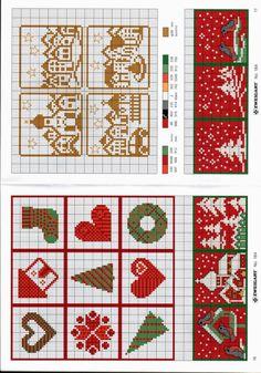 More Xmas scenes Tiny Cross Stitch, Xmas Cross Stitch, Cross Stitch Cards, Quilt Stitching, Cross Stitching, Cross Stitch Embroidery, Cross Stitch Patterns, Christmas Sewing, Christmas Embroidery
