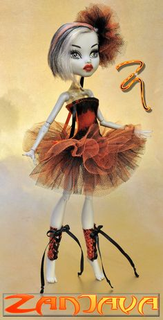 ZanJava ballerina tutu fashion for Monster High by ZanJava on Etsy