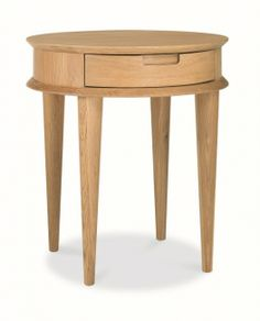 Buy an Oslo Oak Lamp Table with Drawer. A unique retro design meets practicality with this stylish lamp table that features a drawer for storage. Crafted from a combination of oak solids and veneers, this piece exudes sophistication and vibrancy. Furniture, Solid Wood Design, Side Table Lamps, Oak Lamp, Wood End Tables, Coffee Table Wood, Oak End Tables, Side Table With Drawer, Oak