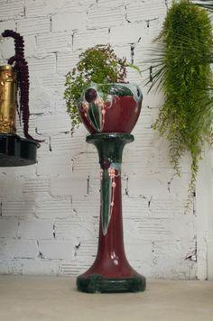 Colonne et cache-pot Art-Nouveau