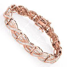Luxurman 14k Gold Baguette 5ct TDW Diamond Bracelet