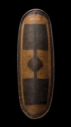 """Africa   Wola, Mbugbu, DR of Congo, Warrior's Shield   Wook, Wicker, Pigment   51"""""""