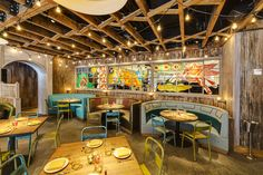 The design concept for El Vez is influenced by different facets of Mexican and Mexican-American culture, including authentic design and craft, the Western frontier, and popularity of taco trucks.