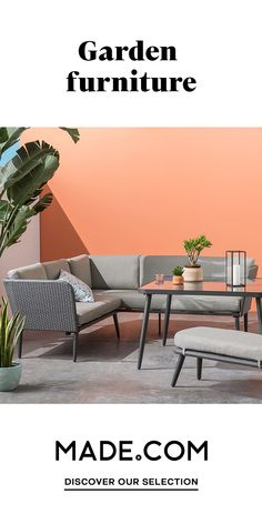 Take it outside with rockers, bistro sets and planters in trend-led finishes of terrazzo and concrete. No garden? No problem. We've got compact balcony furniture, too. Balcony Furniture, Outdoor Garden Furniture, Outdoor Sofa, Outdoor Decor, Apartment Balcony Decorating, Apartment Balconies, Apartment Living, Sofa Uk, Bistro Set