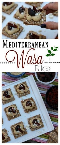 These Mediterranean Wasa Bites made with Wasa multi grain crackers from @harristeeter are a perfect snack for girls night in! #HowDoYouWasa #ad