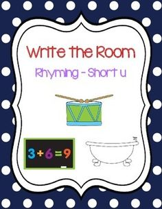 Write the Room - Short u Rhyming