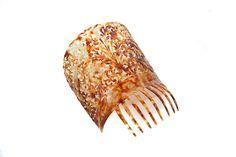 "Antique Carved Spanish Hair Comb 8"" Mantilla | eBay"