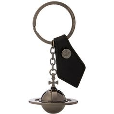 Vivienne Westwood Round Orb Key Ring (Black) Wallet (€60) ❤ liked on Polyvore featuring men's fashion, men's accessories, men's key rings and mens leather accessories
