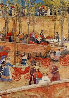 Afternoon, Pincian Hill by Maurice Prendergast #art
