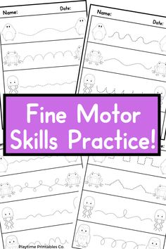 Practice fine motor skills with this animal themed fine motor skills practice! These worksheets are perfect for preschool aged children to practice their fine motor skills by tracing the lines! The animals can be colored in for added fun! fine motor skills for preschoolers, fine motor skills kindergarten, fine motor skills activities, kindergarten fine motor skills prek fine motor activities. #FineMotorSkillsFor Preschoolers #FineMotorSkillsKindergarten #FineMotorSkillsActivities