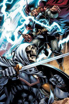 Thor vs Taskmaster by Mahmud Asrar