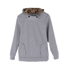 Cheap Mujeres sudadera con capucha sudadera Leopard Tops blusas Pullover abrigos Coat sudaderas, Compro Calidad Sudaderas directamente de los surtidores de China:       2015 Women Autumn Winter Leopard Hoodie Zip Coat Long Sweatshirt Fleece Medium Long Jacket Cardigan Casaco Feminin