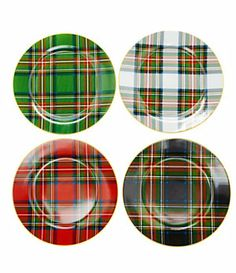Noble Excellence Holiday Plaid Accent Dinnerware | Dillard's Mobile