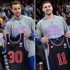 The #SplashBrothers were presented w/ their #NBAAllStarNYC jerseys on Wednesday night. Curry Basketball Shoes, James Harden Shoes, Jabari Parker, Nba Players, Basketball Players, Golden State Basketball, Wardell Stephen Curry, Splash Brothers, Stephen Curry Shoes