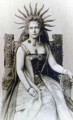 Oh, life is a glorious cycle of song, A medley of extemporanea; And love is a thing that can never go wrong; And I am Marie of Romania. -- Dorothy Parker (Photo: Queen Marie of Romania) Victorian Fancy Dress, Royal Jewels, Before Us, Women In History, British History, Queen Victoria, Vintage Photographs, Vintage Beauty, Marie