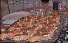 Simply delicious: Leckere Baguette Wildlachs Häppchen