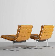 Jorge Zalszupin | Easy Chair, chromed steel, leather, 1973