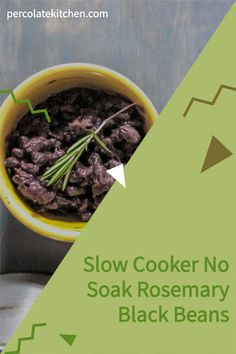 I NEVER remember to soak black beans before I cook them! This recipe is so helpful, since I can just throw them in a crockpot with no soak and still get easy black beans that taste yummy. God bless the slow cooker, lol. Great pin! Best Side Dishes, Side Dish Recipes, Dried Black Beans, Black Bean Recipes, Healthy Slow Cooker, Healthy Vegetables, Vegetable Sides, Side Salad, Crockpot Recipes