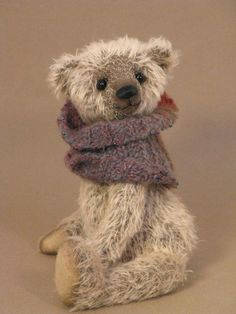 Classic 10 inch  Jointed Mohair Bear by FoolsGoldBears on Etsy