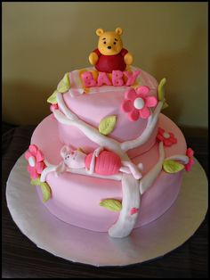 Really cute., i would probably get pooh && piglet taken off and just do a big green bow on the top with the name in hot pink though.(:
