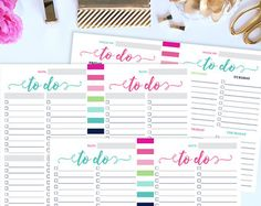 Weekly Planner PRINTABLE Weekly To Do List Check por DevonBoutique