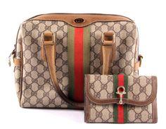 Gucci Monogram Purse & Horse Bit Wallet : Lot 193A