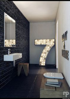 Feel like a movie star in this bathroom! #interior