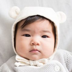 Organic Baby Bear Bonnet - bitteshop.com
