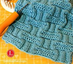 Double Basket Stitch Pattern for the Loom FREE