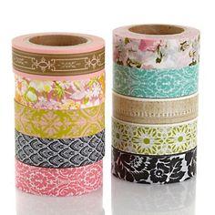 Anna Griffin® Decorative Washi Tape - 10 Rolls at HSN.com.