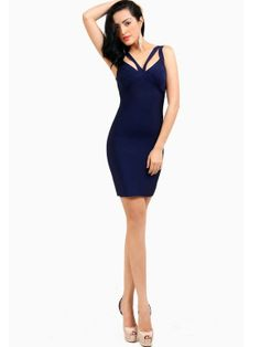 Don't miss out on this Cut Out Straps Bandage Dress. Only at #MyLulusCloset. #BandageDresses #DressToImpress