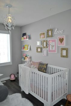 Pink, grey and gold nursery ❤❤❤