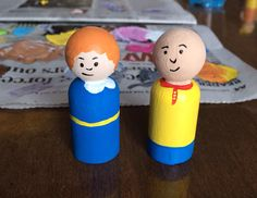 Caillou and Rosie Peg People!!