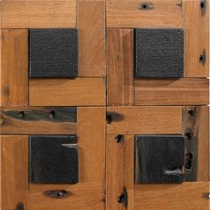 Prana - 3D mosaic tile in light and dark colors of reclaimed wood